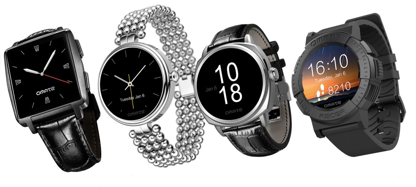 Omate présente ses deux nouvelles montres sous MTK Aster, les Racer et Roma