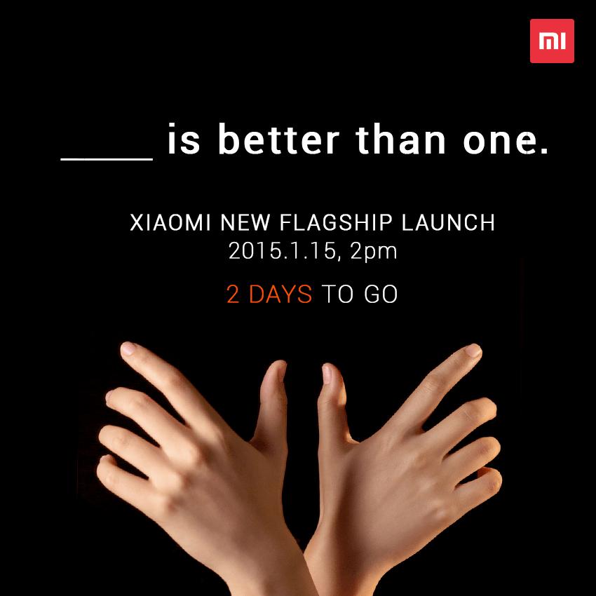 Demain, Xiaomi présentera non pas un mais deux smartphones