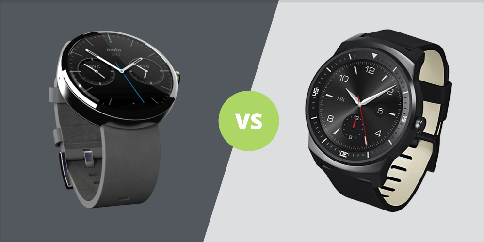 Moto 360 vs G Watch R : la bataille des montres design
