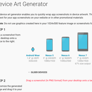 Device Art Generator accueille Android Wear
