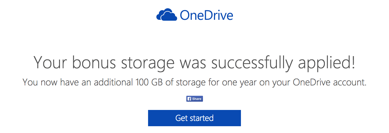 Obtenez 100 Go de stockage gratuit sur OneDrive pendant un an !