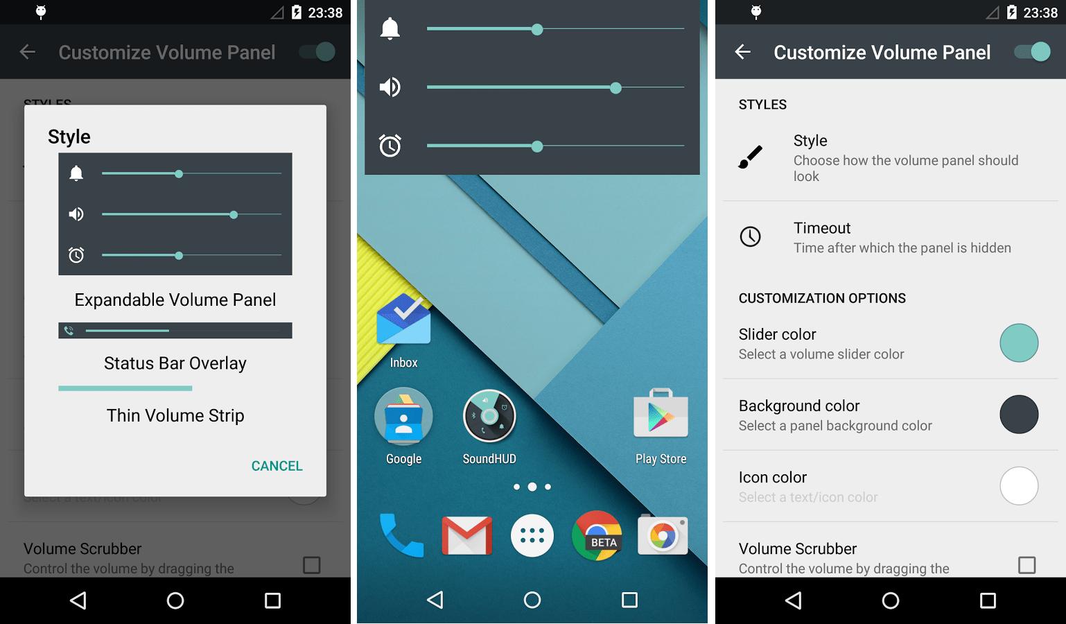 SoundHUD : une application pour retrouver le mode silencieux sous Lollipop, sans root