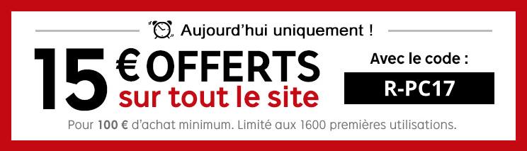 Bon plan : 15 euros offerts dès 100 d'achats chez PriceMinister