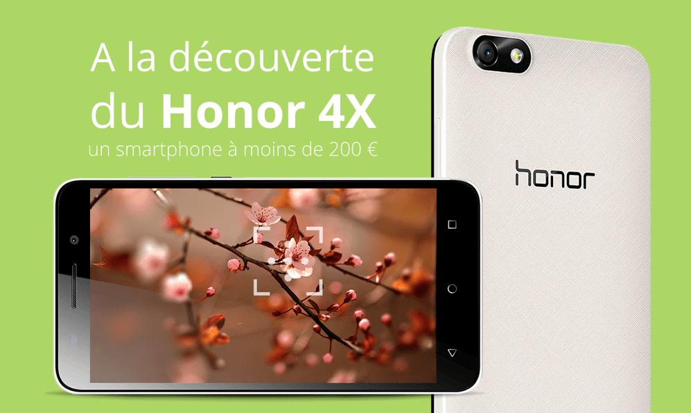 Honor 4X : à la découverte de ce smartphone à moins de 200 euros