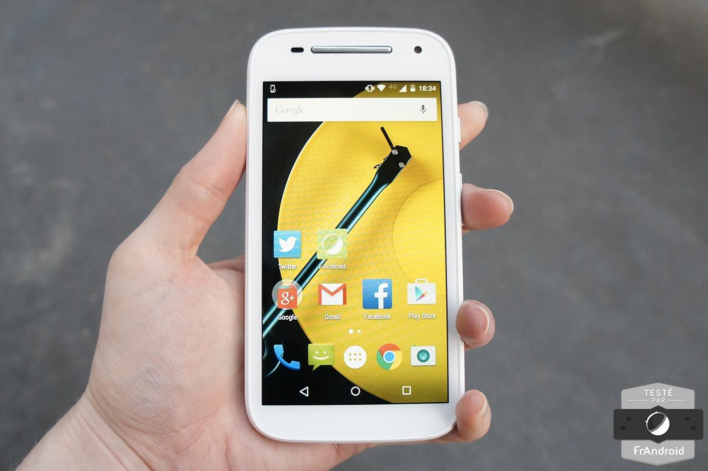 Test du Motorola Moto E 4G, du Lollipop à moindre coût