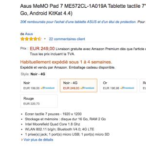 Asus Memo Pad 7 4G : une bonne affaire en perspective ?