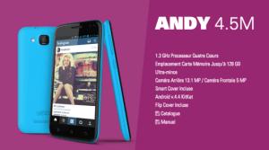 Bon plan : Le smartphone Yezz Andy 4.5M en promotion à 109 euros