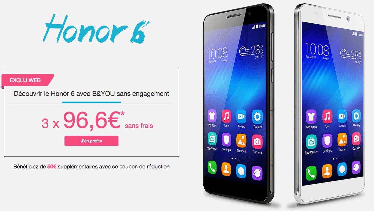 Le Honor 6 arrive chez Bouygues Telecom avec une belle promotion de lancement