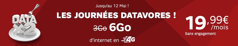 SFR double la data sur son forfait RED 3 Go