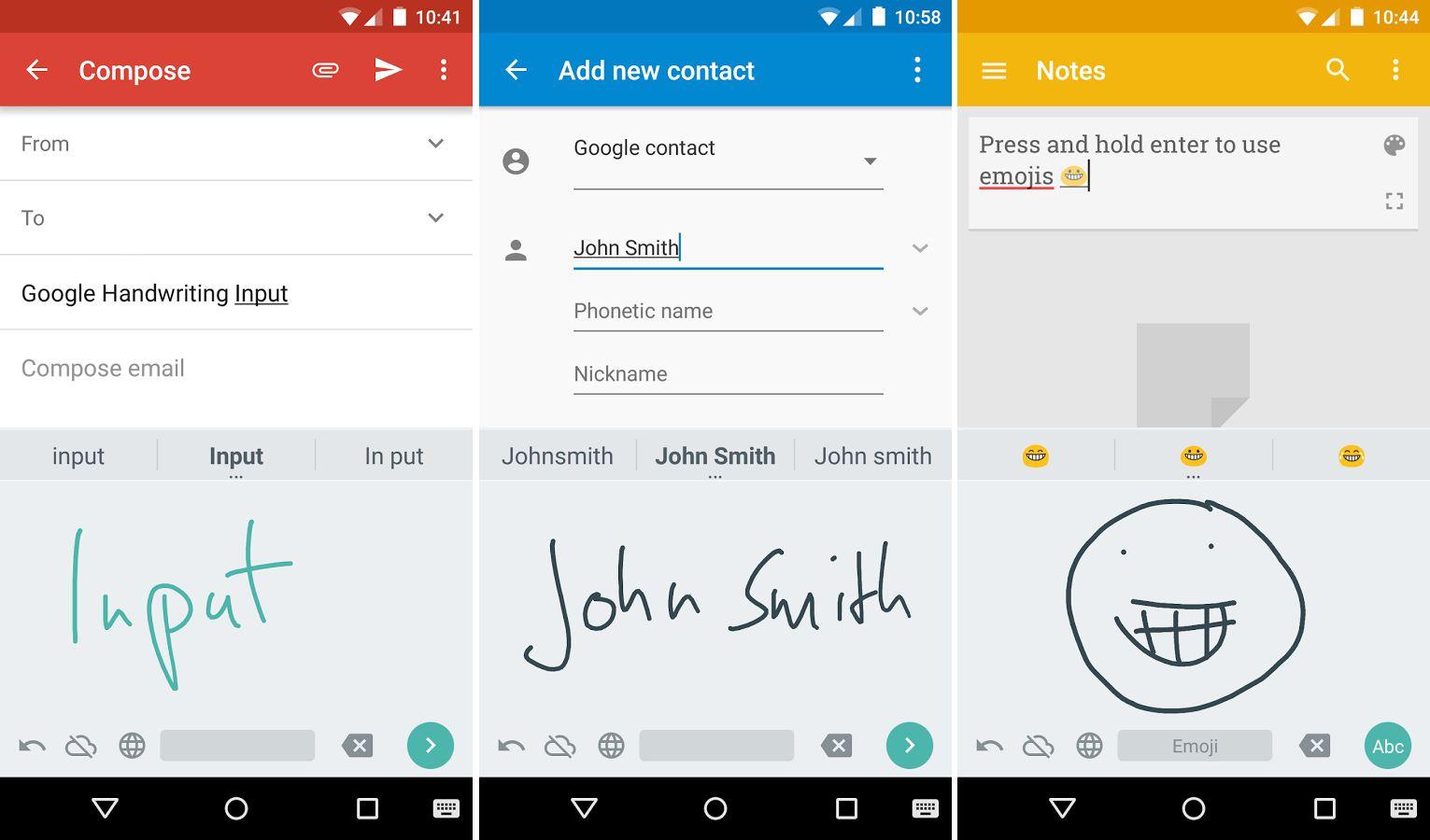 Avec Google Écriture manuscrite, Android peut maintenant reconnaître votre écriture