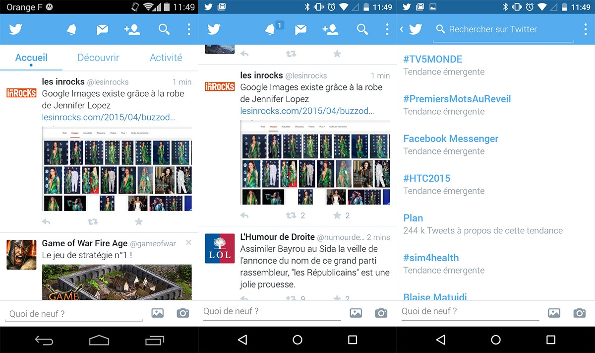 Twitter modifie encore une fois l'apparence de son application mobile