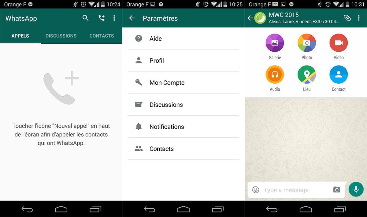 WhatsApp passe enfin au Material Design