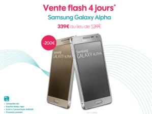 Bon plan : 200 euros de réduction sur le Samsung Galaxy Alpha chez Sosh