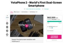 Le YotaPhone 2 se sert d'Indiegogo pour attaquer le marché américain