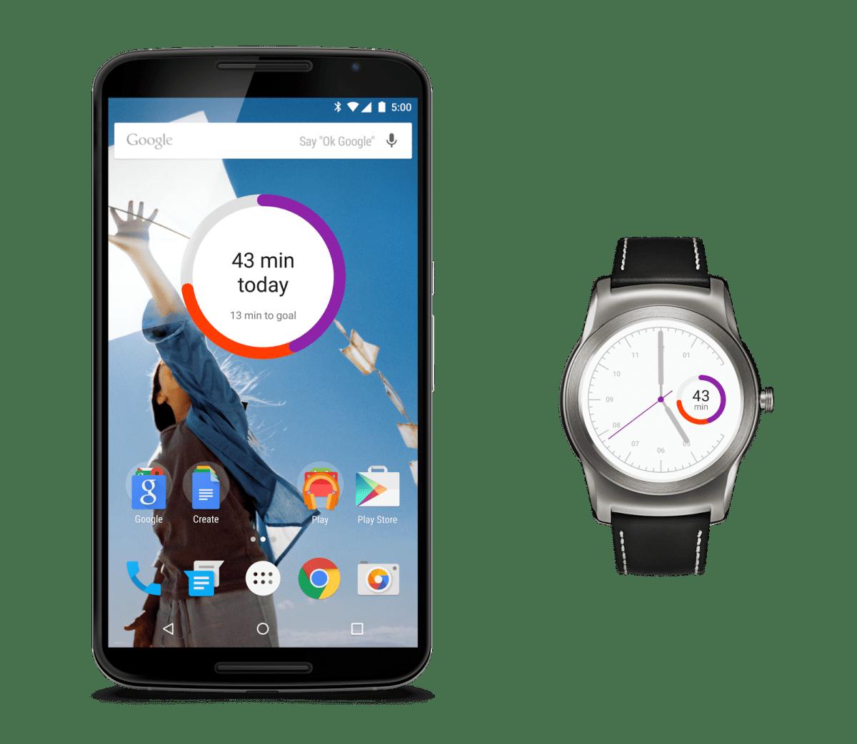 Google Fit : nombre de calories, un cadran pour Android Wear et une compatibilité Samsung