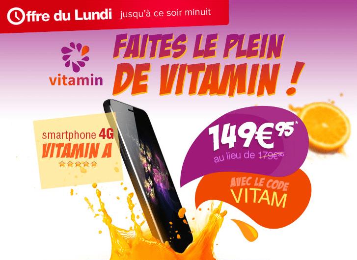 Bon plan : le smartphone Vitamin A est à 149,95 euros