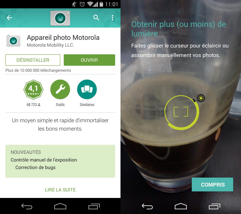 L'application photo de Motorola se dote de deux nouvelles fonctionnalités