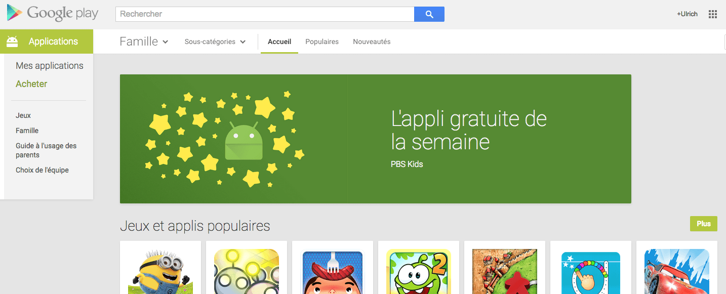Google se met à « l'application gratuite de la semaine »