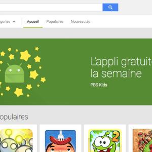 Google se met à «l'application gratuite de la semaine»