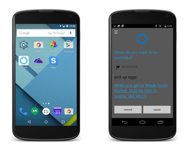 Cortana : l'assistante vocale de Microsoft aura du retard sur Android