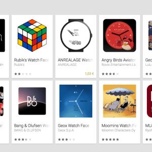 Google publie une nouvelle collection de cadrans Android Wear