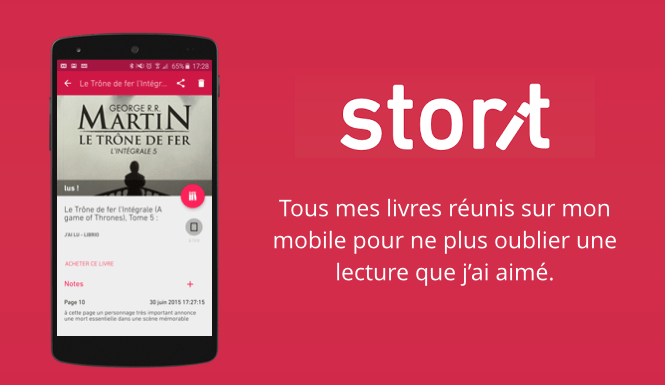 Avec l'application Android Storit, gardez le fil de vos lectures