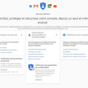Google a entièrement refondu l'interface de « Mon Compte »