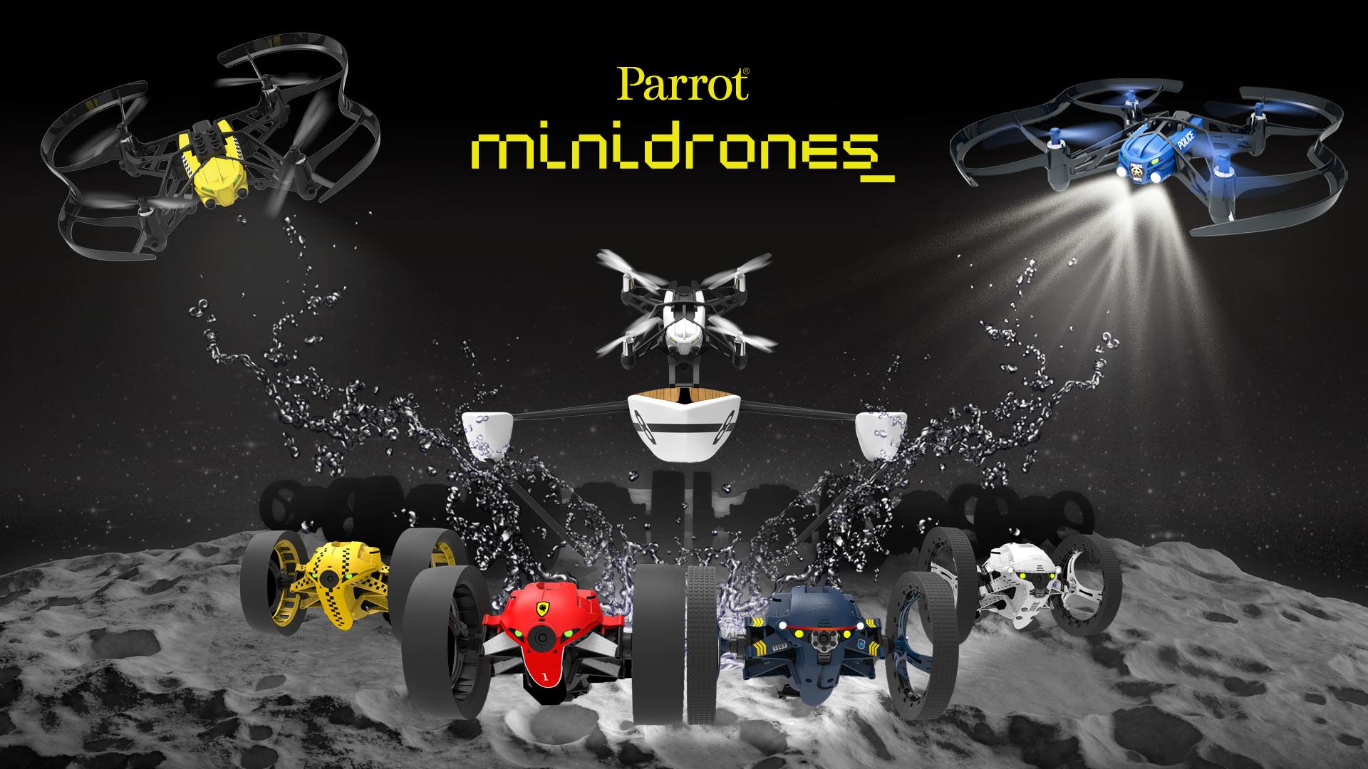 Parrot dévoile ses Minidrones 2.0, dont un hydroptère pour l'été
