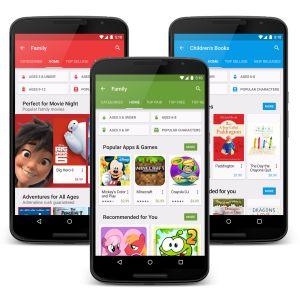 Le Play Store affiche désormais la classification PEGI et ouvre une section dédiée aux enfants