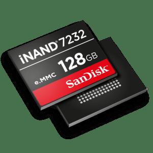 SanDisk iNAND 7232 : 128 Go de stockage performant en eMMC 5.1