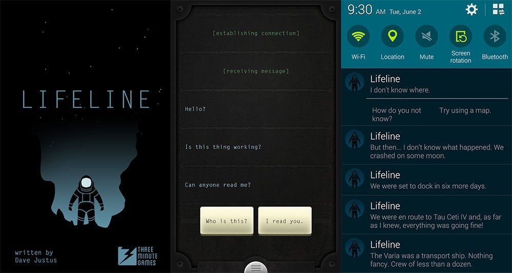 Lifeline : un jeu immersif et en promotion pour une durée limitée