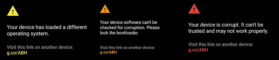 Google rajoute des avertissements au démarrage si le système a été modifié