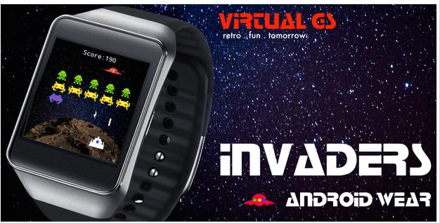 Invaders, un clone de Space Invaders est disponible sur Android Wear