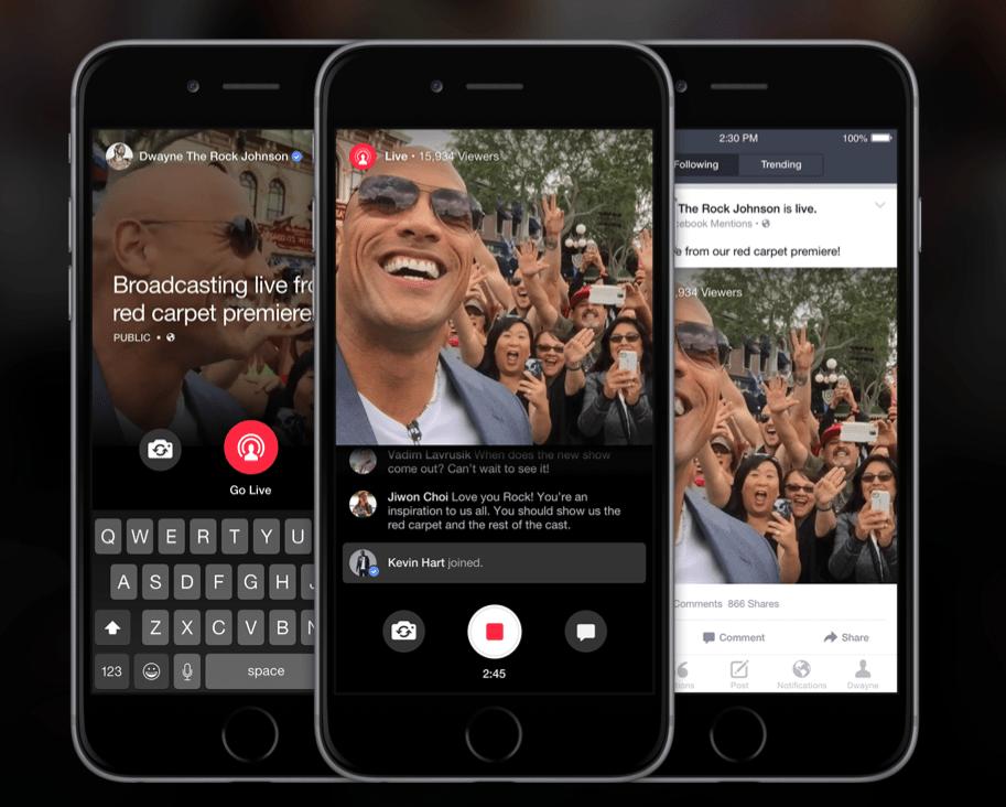 Facebook lance un concurrent à Périscope, uniquement pour les célébrités