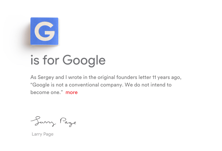 Google Inc. devient Alphabet Inc.