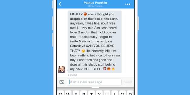 Twitter laisse désormais ses membres parler librement en privé