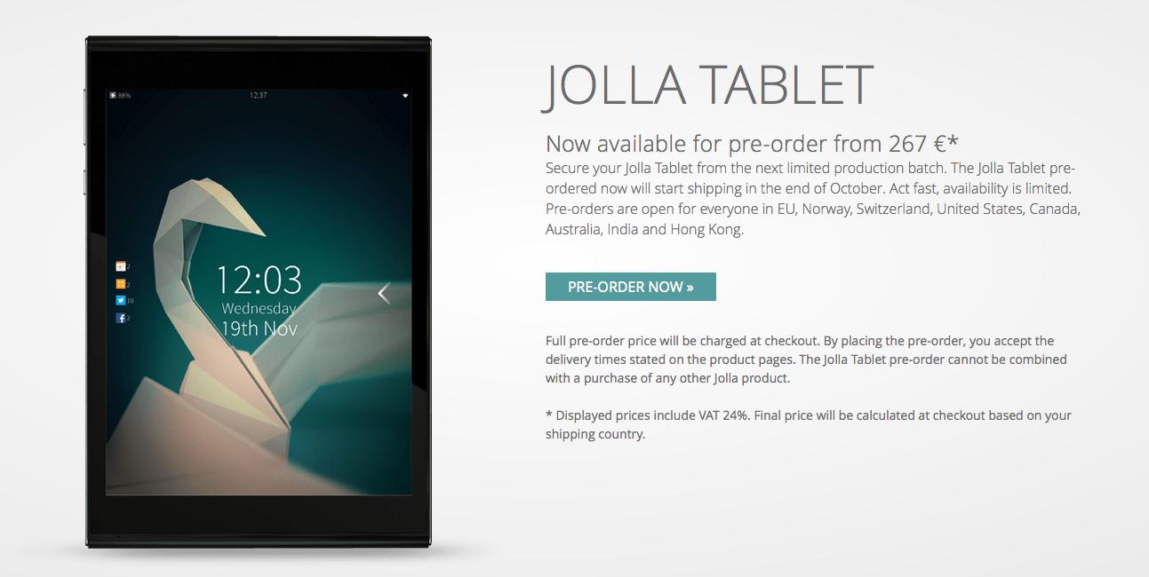 Jolla ouvre les précommandes de sa Jolla Tablet