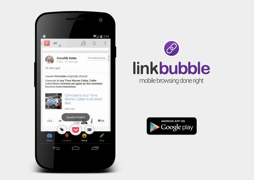 L'application Link Bubble devient entièrement gratuite