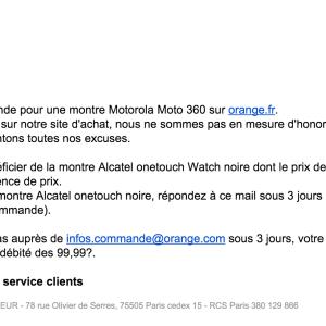 La Moto 360 à 99 euros ? Un «dysfonctionnement» selon Orange