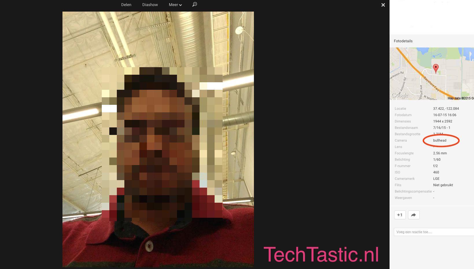 Nexus 5 (2015) : le selfie d'un Googler révèle la définition de l'appareil photo frontal