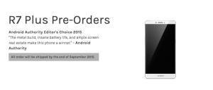 Le Oppo R7 plus est disponible en précommande en Europe