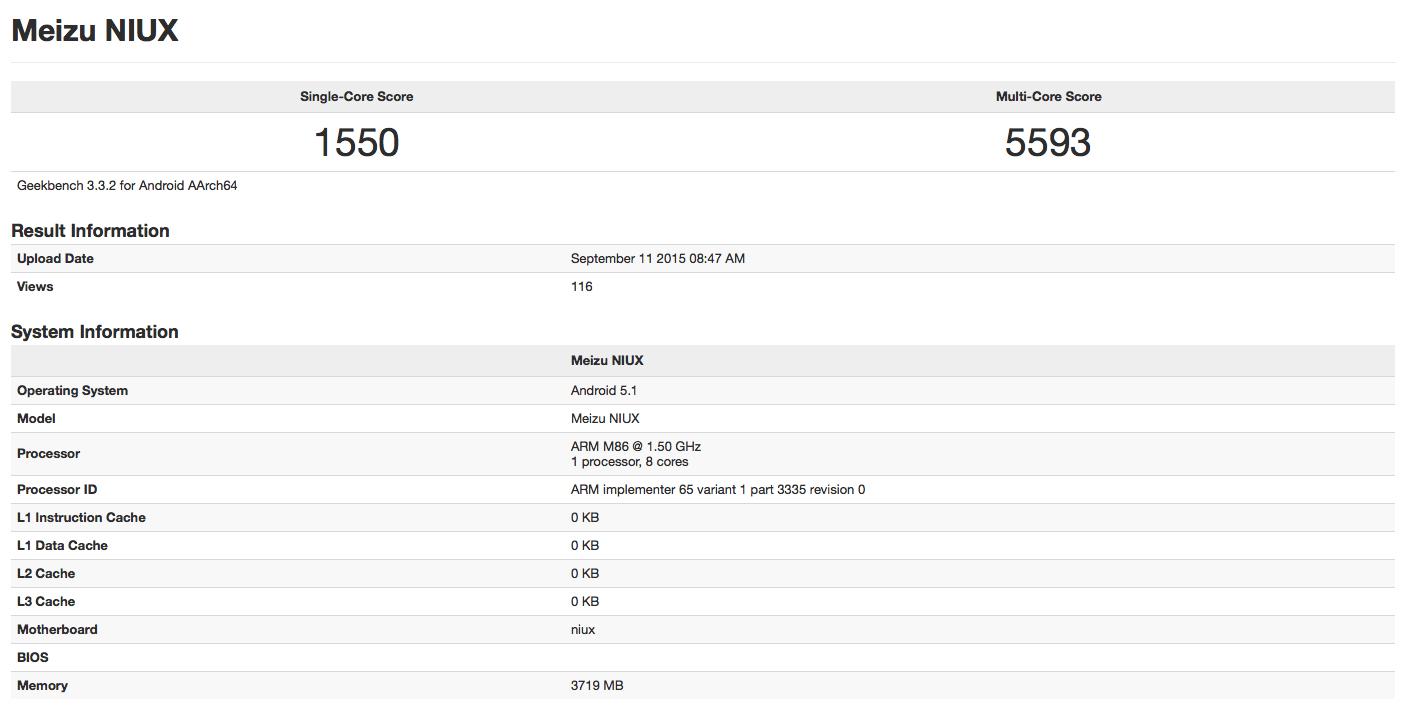Un certain Meizu Pro 5 joue déjà les cadors sur les benchmarks