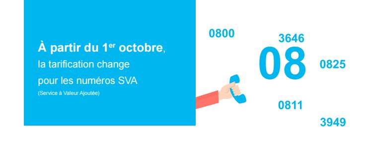 La tarification des numéros en 08 va changer au 1er octobre