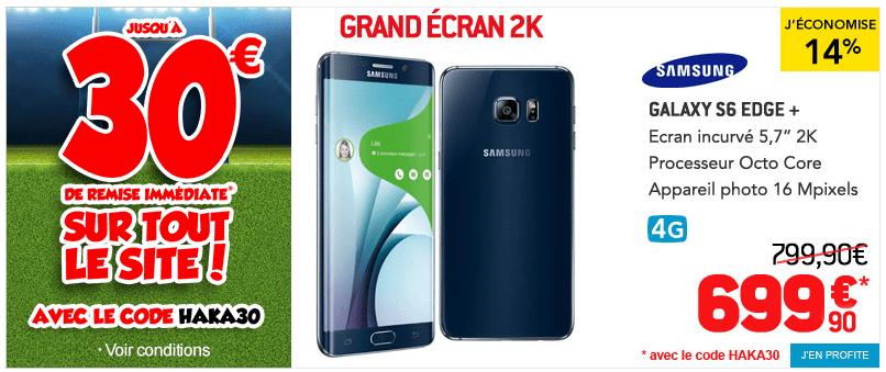 Bon plan : le Samsung Galaxy S6 Edge Plus est en promotion à 699,90 euros