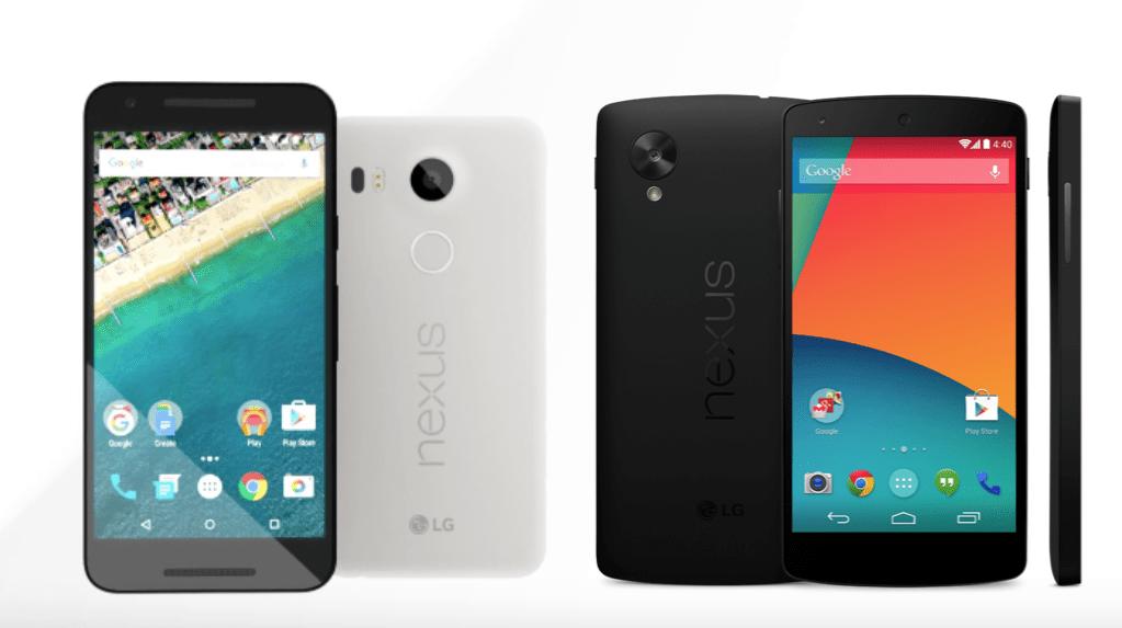 Nexus 5 vs Nexus 5X, deux ans pour tout changer ?