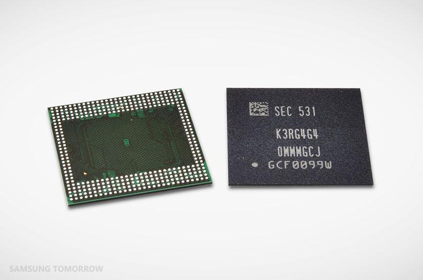 Samsung : bientôt des appareils dotés de 6 Go de mémoire vive LPDDR4