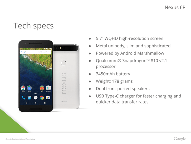 Google Nexus 6P, les derniers secrets tombent