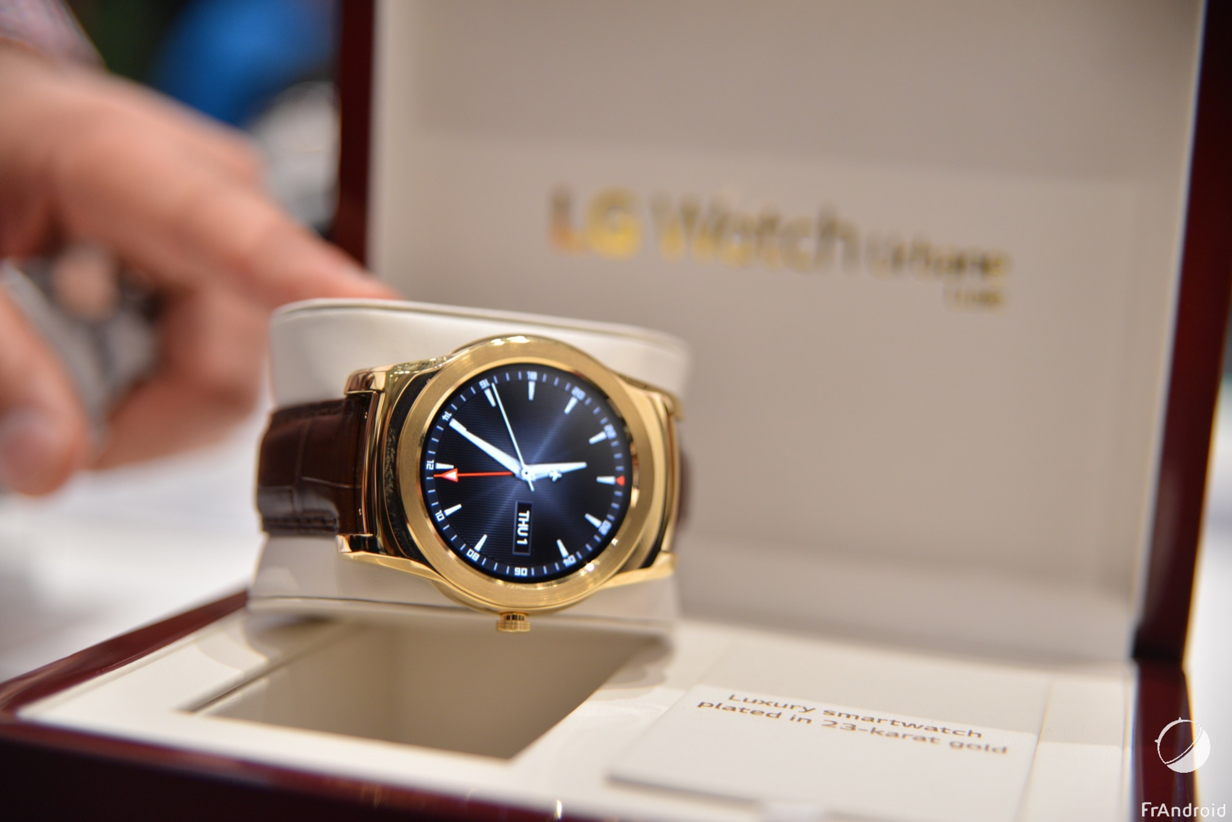 LG Watch Urbane Luxe, nous l'avons vue