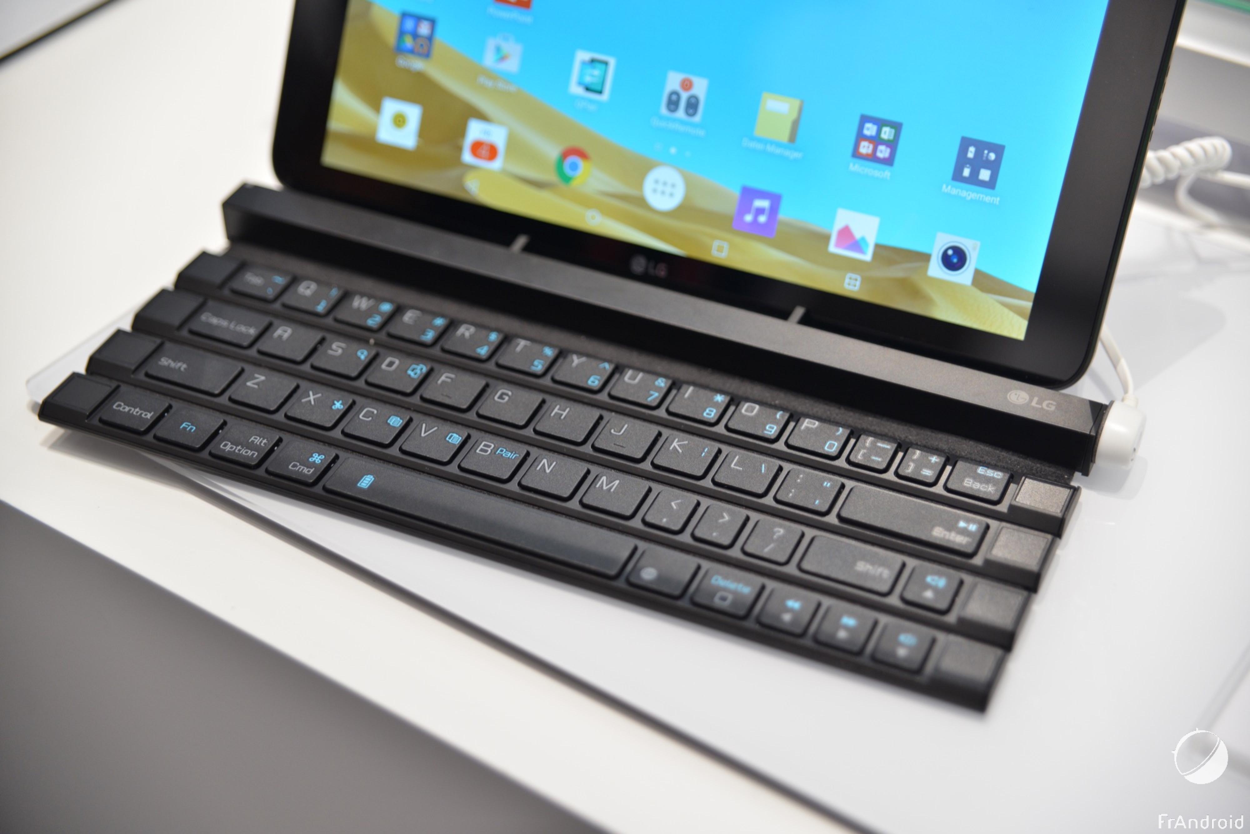 Découverte du LG Rolly Keyboard, le clavier pour tablette qui s'enroule