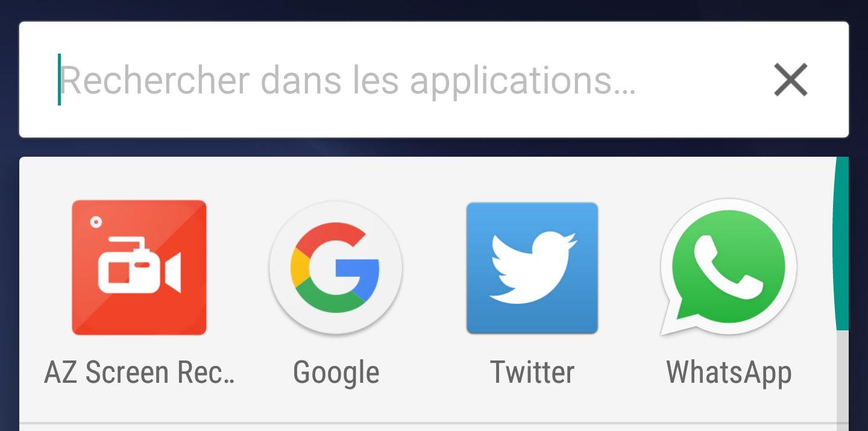 Google Now Launcher permet maintenant de lancer des recherches directes dans l'app drawer